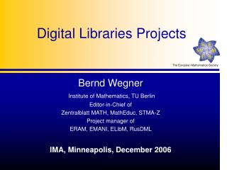 Digital Libraries Projects
