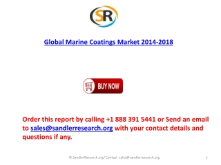 World Marine Coatings Market 2018 Forecast in Research Repor