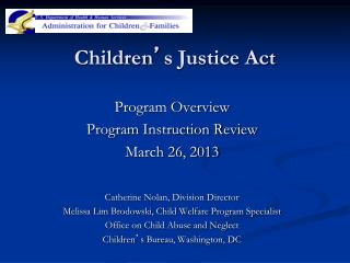 Children ' s Justice Act