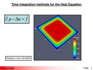 Time integration methods for the Heat Equation