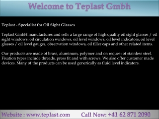 Teplast - Specialist for Oil Sight Glasses