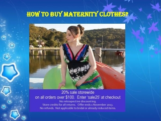 How to Buy Maternity Clothes?