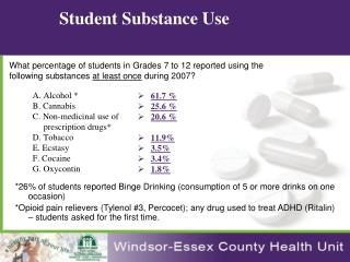 Student Substance Use
