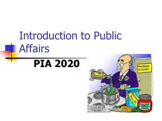 Introduction to Public Affairs