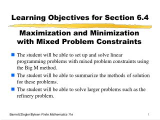 Learning Objectives for Section 6.4