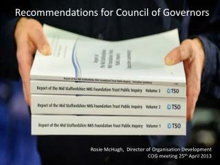 Recommendations for Council of Governors