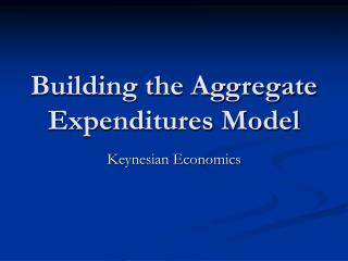 Building the Aggregate Expenditures Model