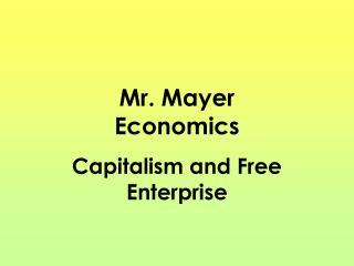 Mr. Mayer Economics