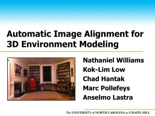Automatic Image Alignment for 3D Environment Modeling