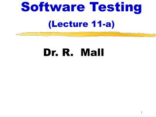 Software Testing (Lecture 11-a)