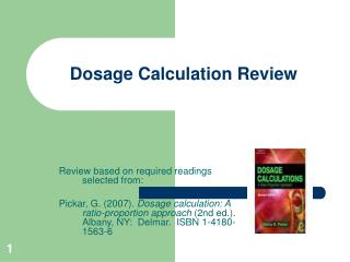 Dosage Calculation Review