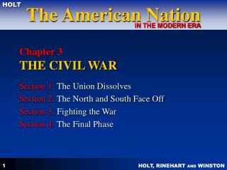 Chapter 3  THE CIVIL WAR