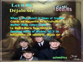 Let it Be Déjalo ser