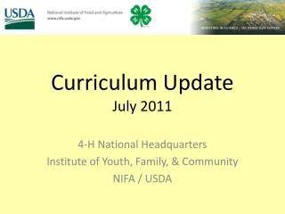 Curriculum Update July 2011