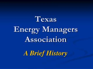 Texas Energy Managers Association