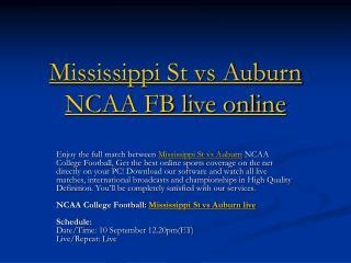 mississippi st vs auburn ncaa fb live online