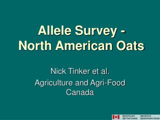 Allele Survey - North American Oats