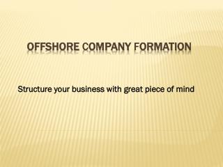 Offshore Company Formation Dubai, UAE