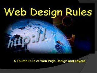 5 Thumb Rules of Web Page Design and Layout