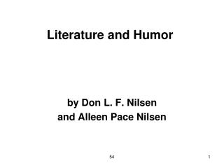 Literature and Humor