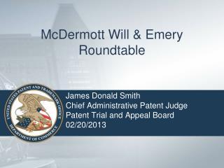 McDermott Will & Emery Roundtable