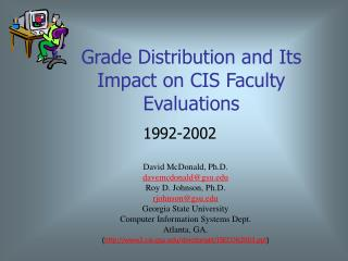 Grade Distribution and Its Impact on CIS Faculty Evaluations