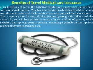 health insurance for travellers to germany