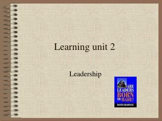 Learning unit 2