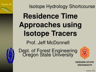 Isotope Hydrology Shortcourse