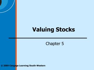 Valuing Stocks