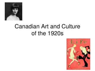 Canadian Art and Culture of the 1920s