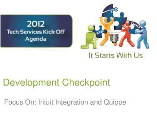 Development Checkpoint
