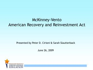 McKinney-Vento American Recovery and Reinvestment Act