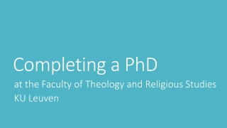 Process for Theological Education Partners