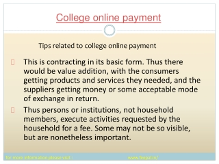 Feepal provide batter services college online payment