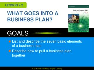 WHAT GOES INTO A BUSINESS PLAN?