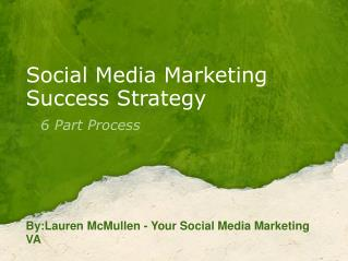 Social Media Marketing Success Strategy 6 Part Process