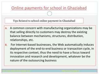 New search about online paymnet for school in Ghaziabad