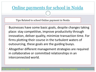 Local news about online paymnet for school in Noida