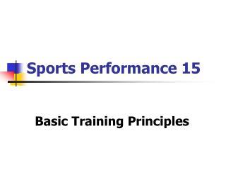 Sports Performance 15