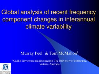 Global analysis of recent frequency component changes in interannual climate variability