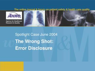 Spotlight Case June 2004