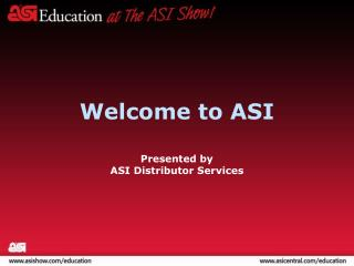 Welcome to ASI