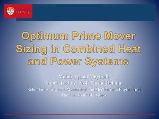 Optimum Prime Mover Sizing in Combined Heat and Power Systems