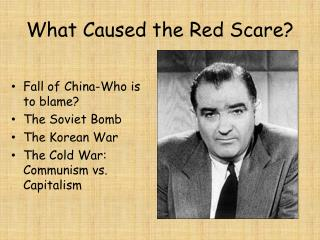What Caused the Red Scare?
