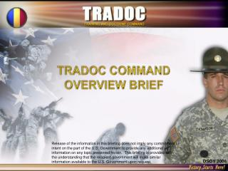 TRADOC COMMAND OVERVIEW BRIEF