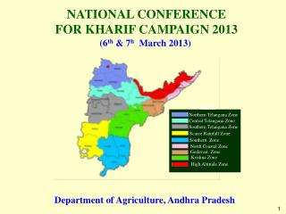 NATIONAL CONFERENCE  FOR KHARIF CAMPAIGN 2013