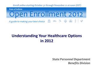 Enroll online starting October 31 through November 21 at noon (EST)