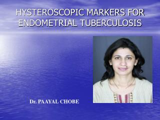 HYSTEROSCOPIC MARKERS FOR ENDOMETRIAL TUBERCULOSIS