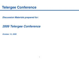 Telergee Conference